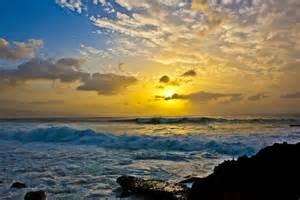 Oahu Hawaii Beaches at Sunset