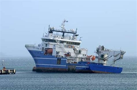 Zodiac Boat Hawaii by Diving Support Ship Bibby Topaz Refloats After Running