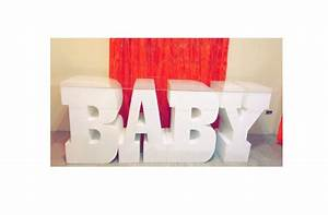 giant styrofoam letter baby letters set of 4 table base With table base letters