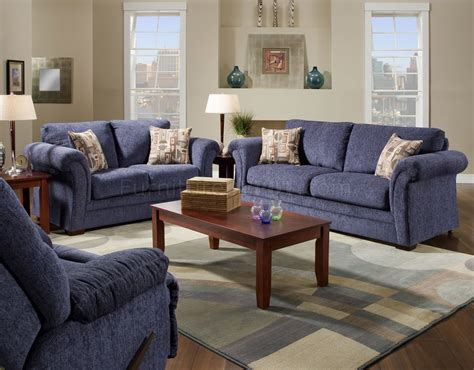 plush blue fabric casual modern living room sofa