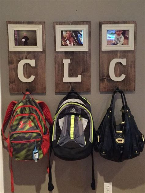 personalize coat andor backpack hooks home decor ideas