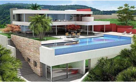 desain rumah mewah  lantai  kolam renang istimewa