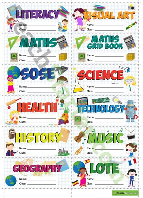 classroom rules template kla book label name tags