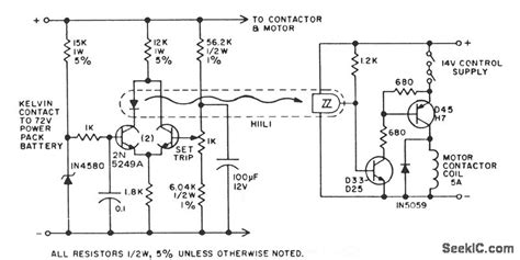 Electric Vehicle Battery Saver Power Supply Circuit