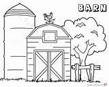 Barn Coloring Pages Printable Tree Getcolorings Getdrawings sketch template