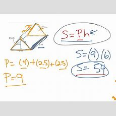 Lateral Surface Area Of A Triangular Prism  Math, Geometry, Surface Area, Middle School Math