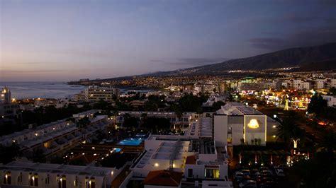 full hd wallpaper tenerife lights top view resort spain