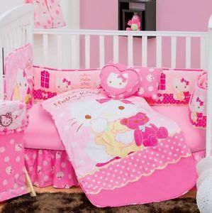 hello kitty crib set new baby sanrio hello kitty caramel pink nursery