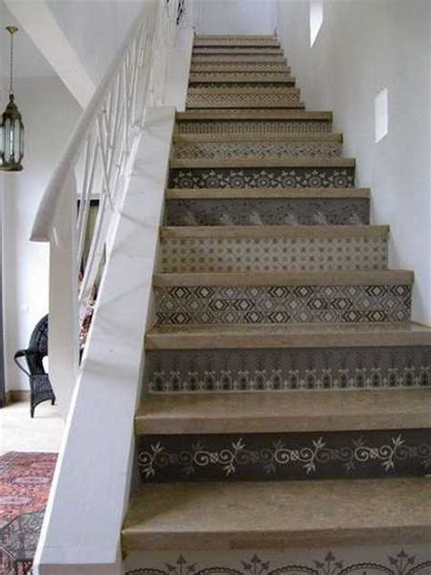adding beautiful wallpapers  stairs risers  original