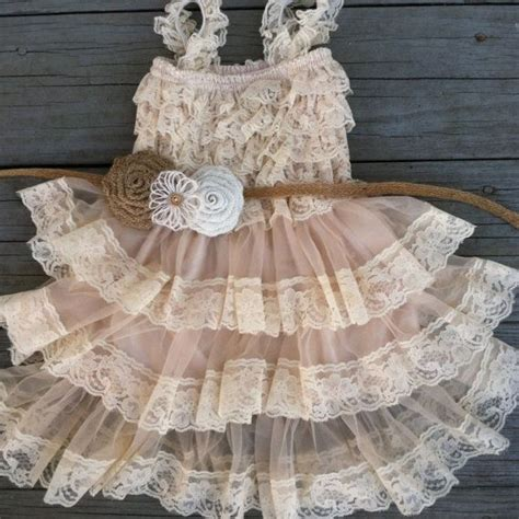 Rustic Flower Girl Lace Dress Pettidressrustic Flower