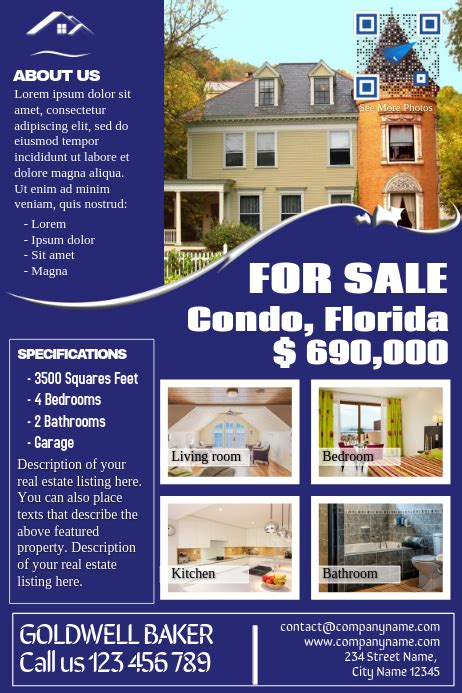 Permalink to Real Estate Listing Flyer