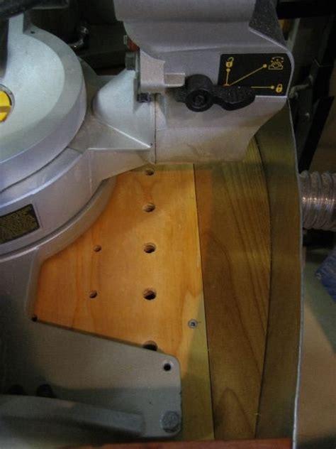 dewalt compound sliding miter  cabinet  dust