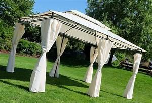 Dach Für Gartenpavillon : eleganter gartenpavillon pavillon 3x4 meter 12m dach 100 wasserdicht uv30 mit 6 vorh ngen ~ Markanthonyermac.com Haus und Dekorationen