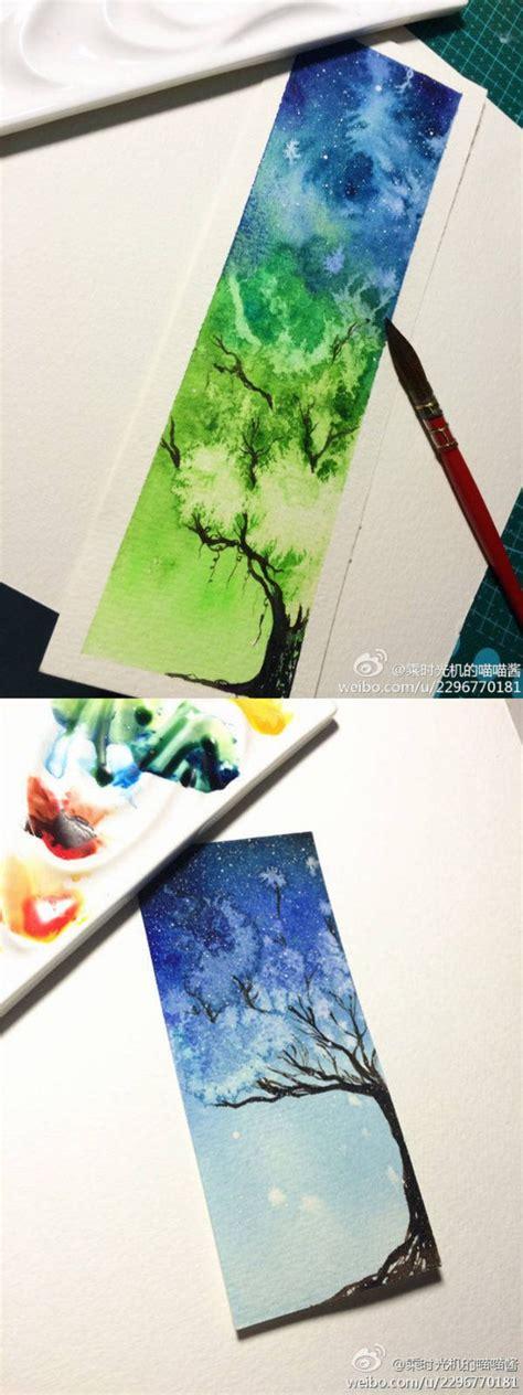 pin  melvin   drawing trees watercolor art