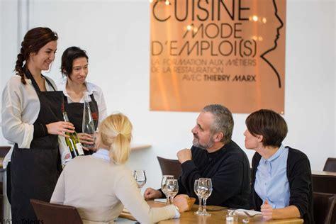 ecole de cuisine thierry marx cuisine mode d 39 emploi s par thierry marx aji magazine
