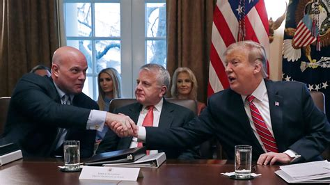 report trump asked whitaker  appoint ally  lead cohen
