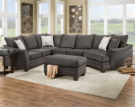 American Freight Sectional Sofas by Flannel Seal 2 Sectional Sofa Traditional Living