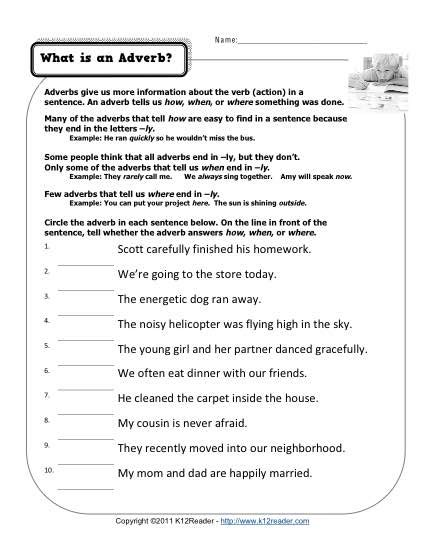 adverb  printable adverb activities