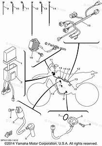 Yamaha Motorcycle 2001 Oem Parts Diagram For Electrical