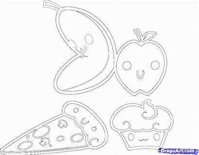 Coloring Pages Kawaii Draw Culture Pop Fruit
