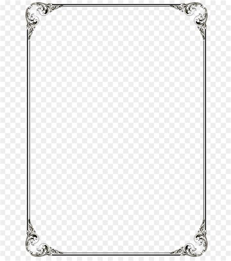 microsoft word template clip art black border frame png