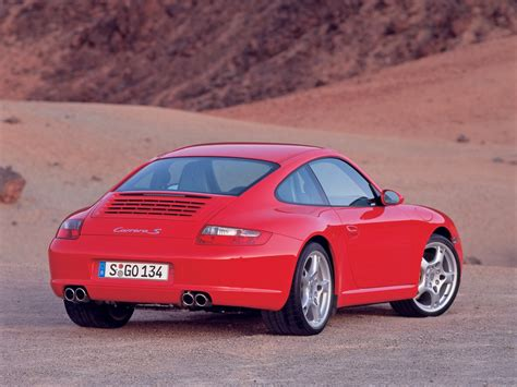 2005 Porsche 911 Carrera S Rear Angle 1024x768 Wallpaper