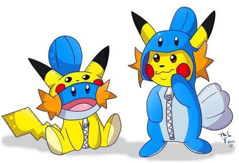 mudkip and pikachu