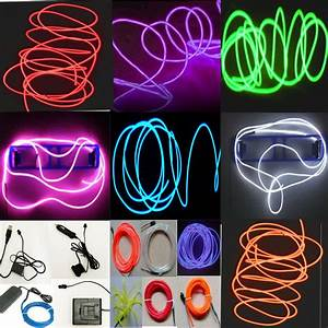Neon Led Light Glow El Wire String Strip Rope Tube Decor