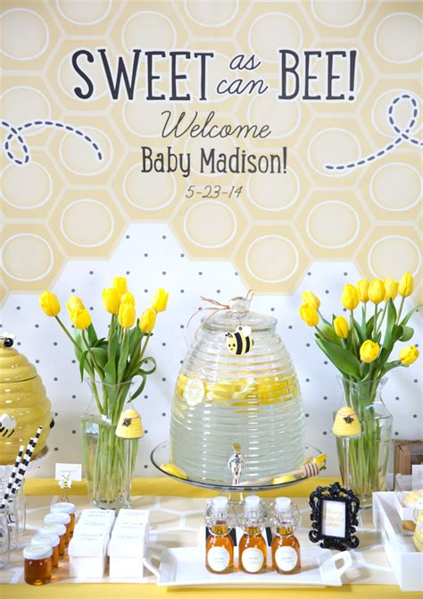 baby shower bee theme sweet as can bee baby shower