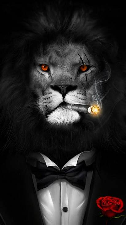 Lion Boss Smart Wallpapers Courage Bravery Painting