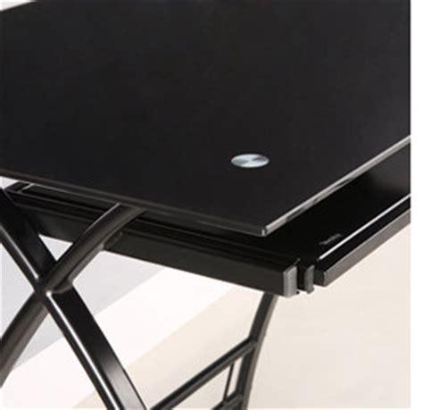 black glass corner computer desk glass metal black corner computer desk brozon454