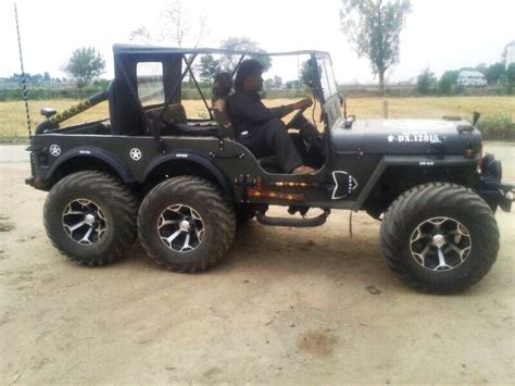 indian army jeep modified a modified version of willys jeep now converted into a 6x6