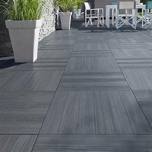 Carrelage Extérieur Terrasse : castorama carrelage terrasse gris anthracite 50 x 50 cm ~ Voncanada.com Idées de Décoration