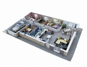 plan d39amenagement maison plain pied With creation de maison 3d 1 maisons plain pied