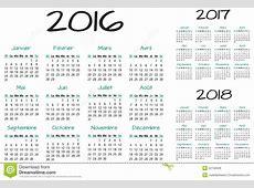 Français 2016 Calendrier De Vecteur De 2017 Et 2018 Ans