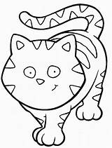 Coloring Cat Cats Funny Pages Children sketch template