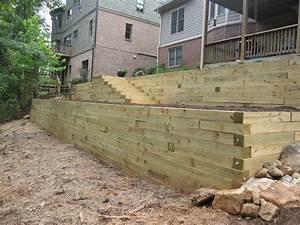 Retaining wall designs homestartxcom for Timber retaining wall design