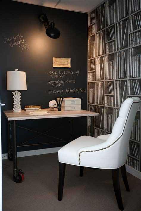 chalkboard paint ideas  transform  home office