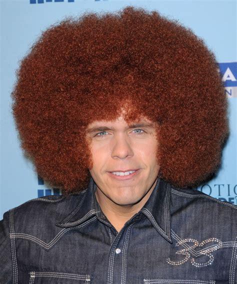 Perez Hilton Medium Curly Casual Afro Hairstyle   Medium