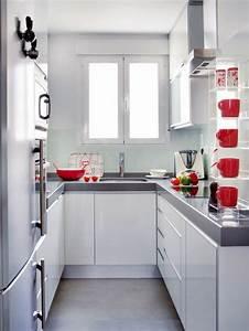1001 idees pour une petite cuisine equipee des With maison grise et blanche 9 comment amenager une petite cuisine idees en photos