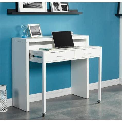 photo bureau bureau extensible 110 cm blanc achat vente