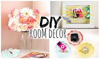 homemade room decorations DIY Room Decor for Cheap! Simple & Cute! - YouTube