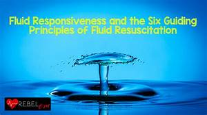 Fluid Responsiveness And The Six Guiding Principles Of Fluid Resuscitation