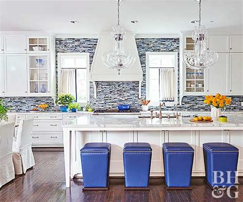 blue backsplash kitchen 17 kitchens with stealing backsplashes 1721