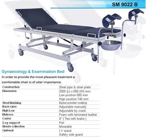 hospital bed shimatra examination obgyn bed
