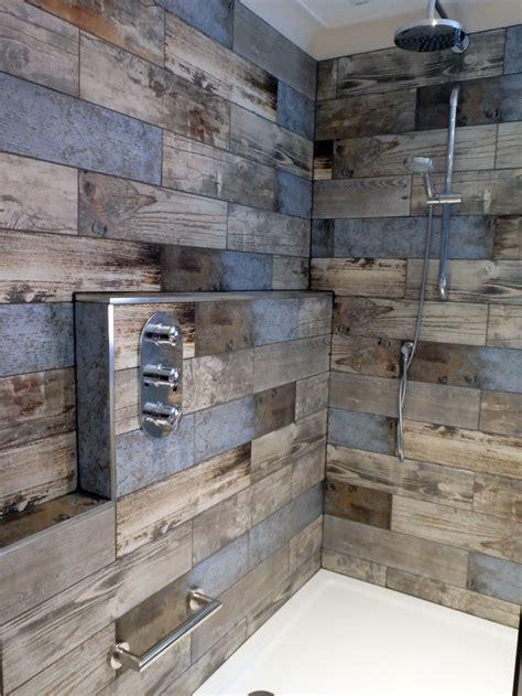 reclaimed wood wall tiles reclaimed wood s bathroom transformation walls