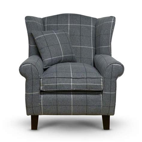 orange chairs living room morris grey tartan wingback chair sloane sons