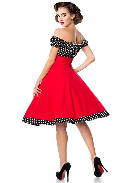 "Robe Années 50 Pinup Rockabilly Retro Belsira ""bella Red"