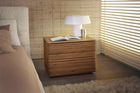 sophisticated  modern nightstands   scandinavian feel