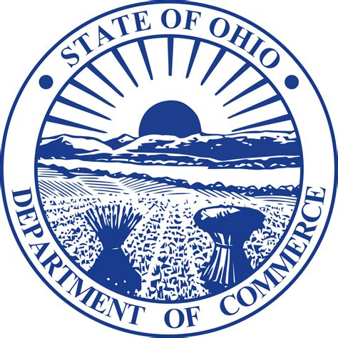 commerce bureau file seal of the ohio department of commerce svg